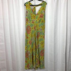 Ashley Stewart Yellow Halter Maxi Dress Sz.24w